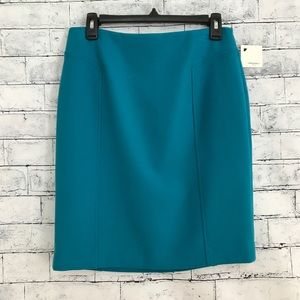 Halogen NWT Nordstrom Womens Blue Pencil 8P Skirt